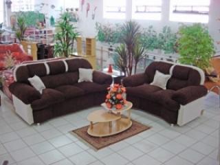 Conjunto 2 sofás - marrom escuro